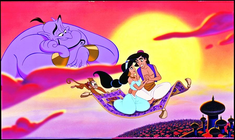 Walt-Disney-Production-Cels-Genie-Abu-Carpet-Princess-Jasmine-Prince-Aladdin-walt-disney-characters-37748619-3084-1840