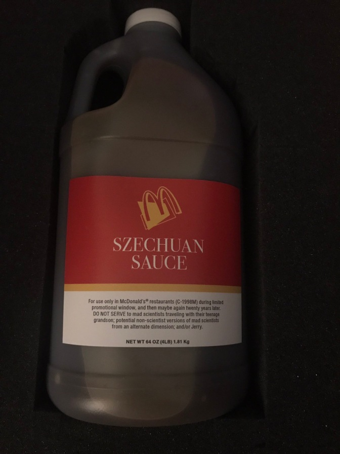 Justin Roiland (Rick & Morty) Recieves Half-Gallon of Szechuan Sauce