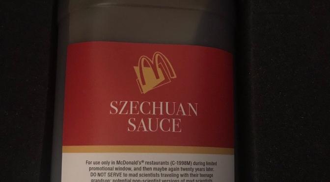 Justin Roiland (Rick & Morty) Recieves Half-Gallon of Szechuan Sauce
